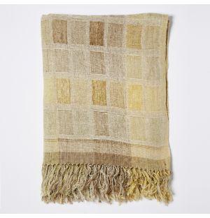 Woven Silk Throw in Yellow