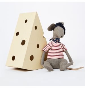 Rat In Cheese Box in Grey