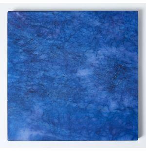 Alabaster Square Placemat in Lapis Blue