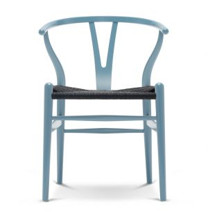 CH24 Wishbone Chair Coloured Wooden Frame & Black Paper Cord Seat