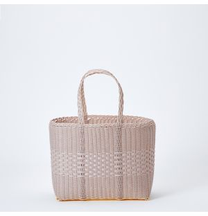 Small Basket Tote in Lilac