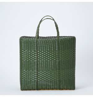 Large Basket Tote in Cactus
