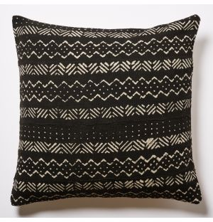 Mudcloth Cushion Cover in Charcoal 50cm x 50cm