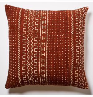 Mudcloth Cushion Cover in Rust 50cm x 50cm