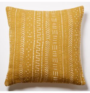 Mudcloth Cushion Cover in Mustard 50cm x 50cm