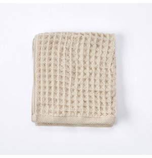 Air Waffle Face Cloth in Natural