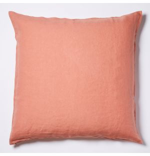 Linen Cushion Cover in Clay 65cm x 65cm