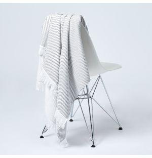 Lulu Hammam Beach Towel in Carbone