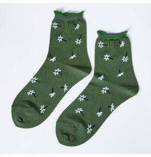 Osmanthus Crew Socks in Pine