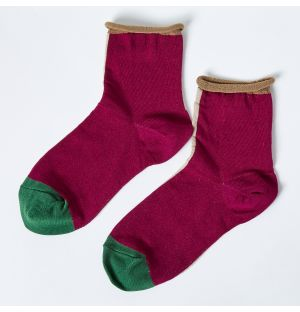 Eloise Crew Socks in Fuchsia