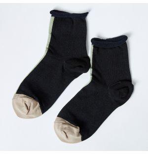 Eloise Crew Socks in Black