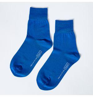 Trouser Crew Socks in Cobalt