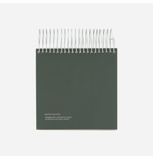 Monograph Spiral Notepad in Green