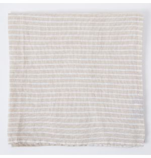 Linen Napkin in Natural Stripe