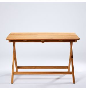 Folding Outdoor Bistro Table in Teak 120cm
