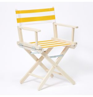 Director's Chair in Stripe & White Stained Beech