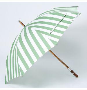 Chestnut Parasol in Green Stripe