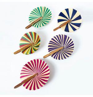 Large Striped Palm Fan