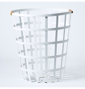 Tosca Laundry Basket in White
