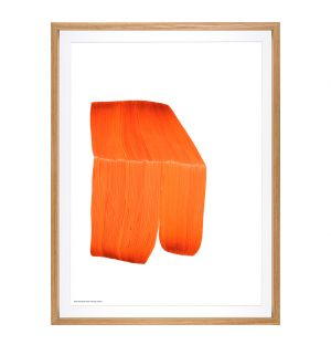Framed Ronan Bouroullec Poster in Orange