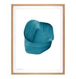 Framed Ronan Bouroullec Poster in Dark Blue