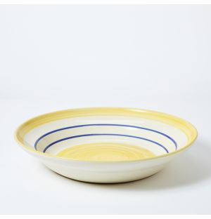 Flat Modern Mediterranean Serving Bowl