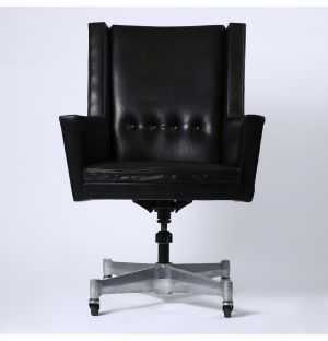 Vintage George Nelson Armchair in Leather