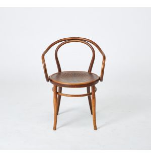 Vintage Curved Armchair in Beech