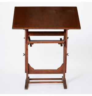 Vintage Architect's Table in Beech and Oak