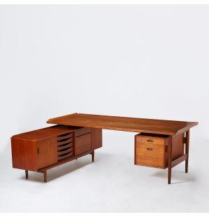 Vintage Arne Vodder Executive Desk & Sideboard