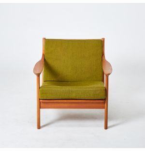 Vintage Edvard Valentinsen Armchair in Teak
