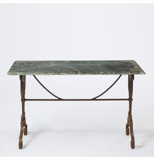 Vintage Pyrenean Marble Table in Blue & Green