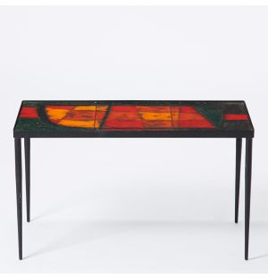 Vintage Cloutier Brothers Lava Tile Coffee Table