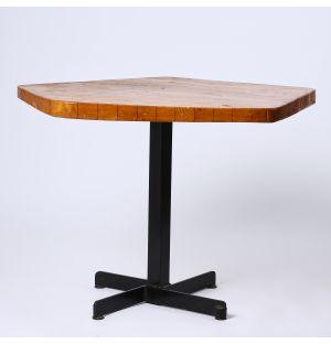 Vintage Les Arcs Pentagon Table in Pine