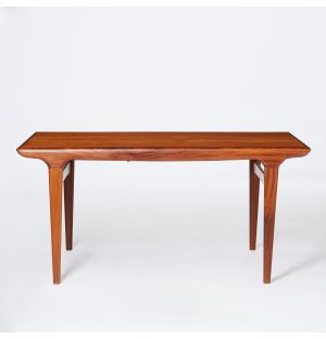 Vintage Danish Dining Table in Teak & Rosewood