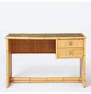 Vintage Italian Desk in Bamboo