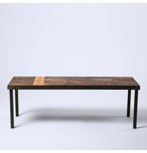 Vintage Coffee Table with Coloured Tiles