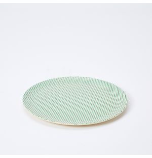 Popdot Bamboo Side Plate in Green