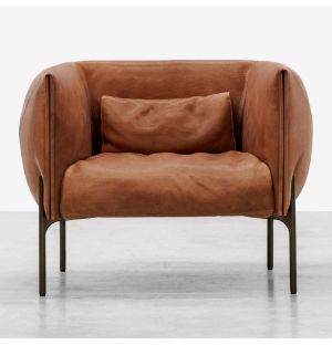 Otto Armchair in Tan Leather