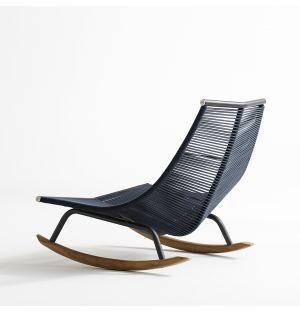 LAZE 003 Rocking Chair in Smoke & Blue
