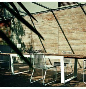 SPINNAKER 034 Extendable Table in Milk & Teak