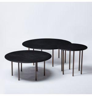 Six Leg Coffee Table in Dark Oak Set of 3 Ex-Display
