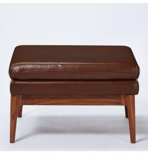 Elgin Ottoman in Chestnut Romagna Leather Ex-Display