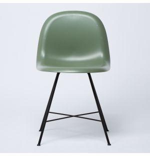 1F HiRek Shell Chair in Mistletoe Green Ex-Display