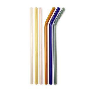 Coloured Reusable Glass Straws