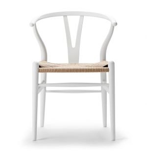 Special Edition CH24 Wishbone Chair in Soft White