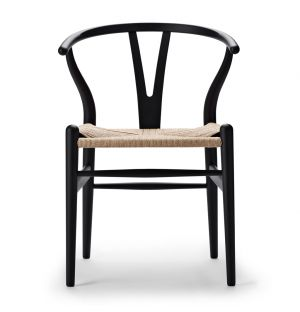 Special Edition CH24 Wishbone Chair in Soft Black