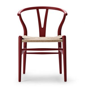 Special Edition CH24 Wishbone Chair in Soft Red