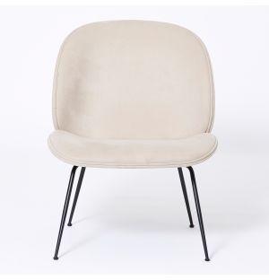Beetle Lounge Chair in Grey Jabana & Black Legs Ex-Display