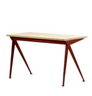 Compas Direction Desk in Oak & Japanese Red